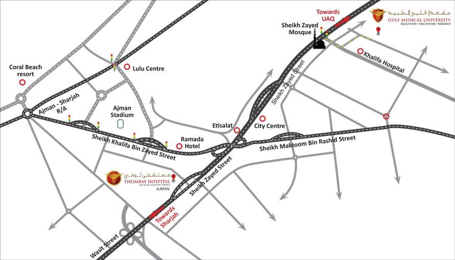 Location Map Gulf Medical University
