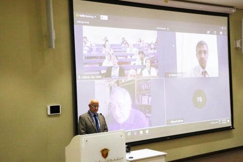 Gulf Medical University Ensures Uninterrupted Academic Session during COVID-19 Precautionary Period; Surpasses Standard Learning Practices and Launches Distance E-Learning